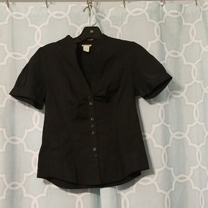 Anthropologie Odille button down black top